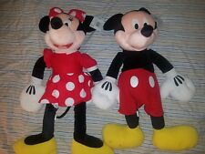 "Disney Parks Jumbo Mickey & Minnie Mouse Plush! 30"" Large Set (2) w tags"