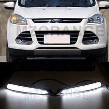 Pair LED Daytime Running Light For Ford Escape Kuga DRL 2013 2014 2015 White UK