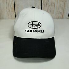 Subaru Hat Cap White Grey Black Adjustable Back One Size Fits All K-Products
