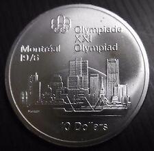 CANADA - 10 DOLLARS 1976 - PORT MONTREAL - JO MONTREAL 76 - ELIZABETH II  Argent