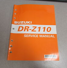 2002 Suzuki DR-Z110 Service Repair ATV Motorcycle Manual 99500-41130-01E