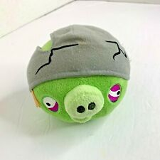 "Angry Birds Plush Stuffed Animal Toy 5"" Tall Green Helmet Commonwealth 2011"