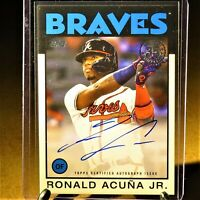 Ronald Acuna Jr 35th Anniversary on-card auto - Topps 2021. Atlanta Braves