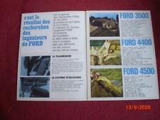 ANCIENNE  BROCHURE  PUBLICITAIRE  TRACTO PELLES  FORD  3500- 4400- 4500