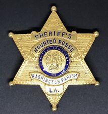 VINTAGE OBSOLETE Sheriff's WASHINGTON PARISH LOUISIANA Collector's Police Badge