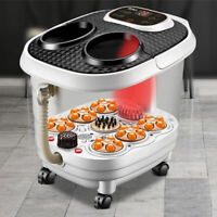 Foot Spa Bath Digital Massager Therapy Vibration Heater Relax Bubble Pedicure UK