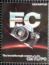 OLYMPUS OM-10FC BOOKLET 215mm x 280mm (8.5''x 11'') 6 pages 03/1982 RARE