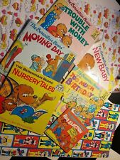6 **1973-86 vintage Berenstain Bears First Time Books new baby bday money moving