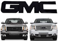 Black Billet Aluminum Grill Emblem For 2007-2013 GMC Sierra New Free Shipping