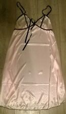babydoll sexy nightie chemise night dress nightwear baby pink  Size 8-10  NEW