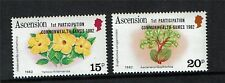 Ascension 1982 Commonwealth Games  SG 326/7 MNH