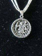 Vintage Sterling Tiny Ball Bead Triple Strand Necklace & St. Christopher Pendant