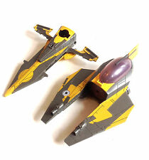STAR WARS Clone Wars ANAKIN's JEDI FIGHTER 2 part ship vehicle toy & figure set