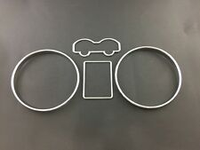 Volkswagen golf MK4 98-04 Bora Jetta  Cluster gauge rings with Chrome