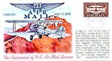"""COVERSCAPE computer generated """"U.S. Airmail Centennial"""" RED forever U/O fdc"""