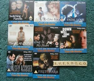 TRUE LIFE STORIES -  8 FEATURE LENGTH FILMS PROMO DVDS - ALL UNPLAYED