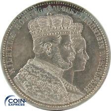 *** 1 Taler Münze Preußen 1861 Krönung Wilhelm I. & Augusta Silber Krönungstaler