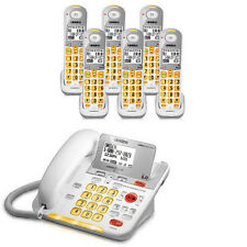 Uniden D3098-6 Amplified Phone w/ 5 Extra Handsets & Bright Visual Ringer�