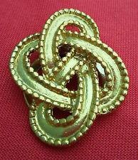PINCE A FOULARD : ruban entrelacé en métal doré