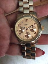 XOXO METAL CRONOGRAPH Watch Gold Toned Stainless Steel Caseback