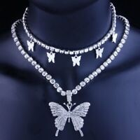 2020 Butterfly Necklace Pendant Clavicle Choker Crystal Chain Women Jewelry