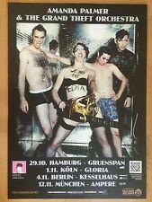 AMANDA PALMER 2012 TOUR   ++  orig.Concert Poster - Konzert Plakat  NEU
