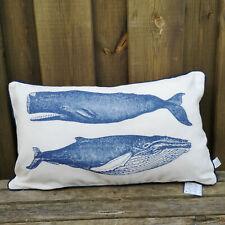 Wal Motiv Pillow Vintage DekoKissen Whale Kissen mit Füllung Reißverschluß 50x30