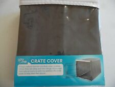 You & Me Gray DOG crater cover roll up doors w zippers 19x12.5x14 Sz XS New