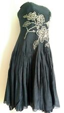 Coast Cocktail Dress Size 10 -- BRAND NEW -- Silk Blend Knee Length Embroidered