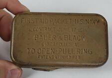 Wwi Ww1 First Aid Packet Usn Us Navy Khaki 1918