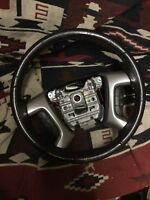 07 08 09 10 GMC Acadia Steering Wheel Black