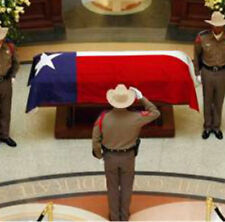 5x9.5 ft Embroidered Sewn State of Texas Cotton Casket Flag