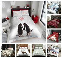 New Charm Design Christmas Festival Santa Snow Stag Duvet Cover Quilt Bed Set