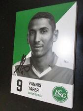 61054 Yannis Tafer FC St. Gallen 16-17 original signierte Autogrammkarte