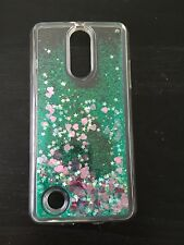 For LG Aristo Fortune TPU Hybrid Liquid Quicksand Glitter Bling Armor Cover Case