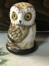 Thimble Franklin Porcelain Owl Friends Of The Forest