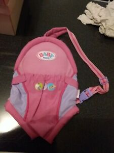 baby born doll carrier back pack