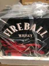 NEW Fireball Beverage Cooler Small Mini Refrigerate Glass Door Fireball Whisky