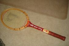 Vintage Tennis Racquet 1970's Billie Jean King, Near Mint Condition