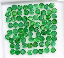 0.75 mm Natural Emerald Round Cut 1.75 mm Lot 30 Pcs Untreated Loose Gemstones