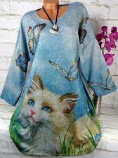 Italy Tunika Shirt Kleid Bluse Tuch Sweatshirt Oversize Gerade Bunt XXL 48 50 52