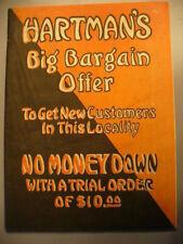 HARTMAN'S BIG BARGAIN OFFER CATALOG 1915 VINTAGE FURNITURE TOYS HOUSEHOLD ETC
