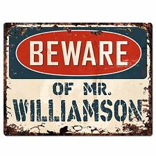 THE WILLIAMSON FAMILY Personalized Game Room Chic Metal  Sign 106180042980