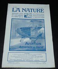 REVUE LA NATURE N°2679 1925 AVIATION APPAREILS DE BORD REICHSMARINE SCAPA FLOW