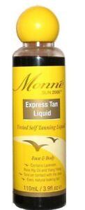 3x Monne Express Spray Tan Or Rub On Self Tanning Liquid Fake Tan 110ml