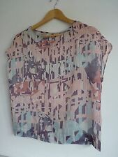 Ladies Lovely Next Pink Mix See Through Sleeveless Top Size 10, Vgc