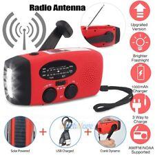 Emergency Solar Hand Crank Dynamo AM/FM/NOAA Weather Radio LED Flashlight Charge