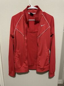 Kids Nike Red Sweater Size Medium With Pockets