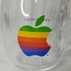 Vintage 80s Apple Mug Acrylic Macintosh Rainbow Logo Power to Be Your Best