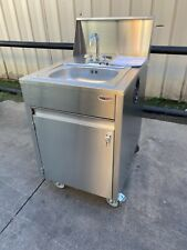 Qualserv stainless steel Portable hand sink hot water daycare Catering School